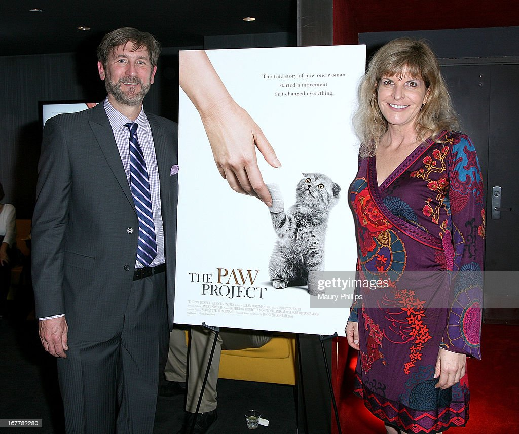 Jim Jensvold and Jennifer Conrad attend The Paw Project Premiere on April 29, 2013 in West Hollywood, California.