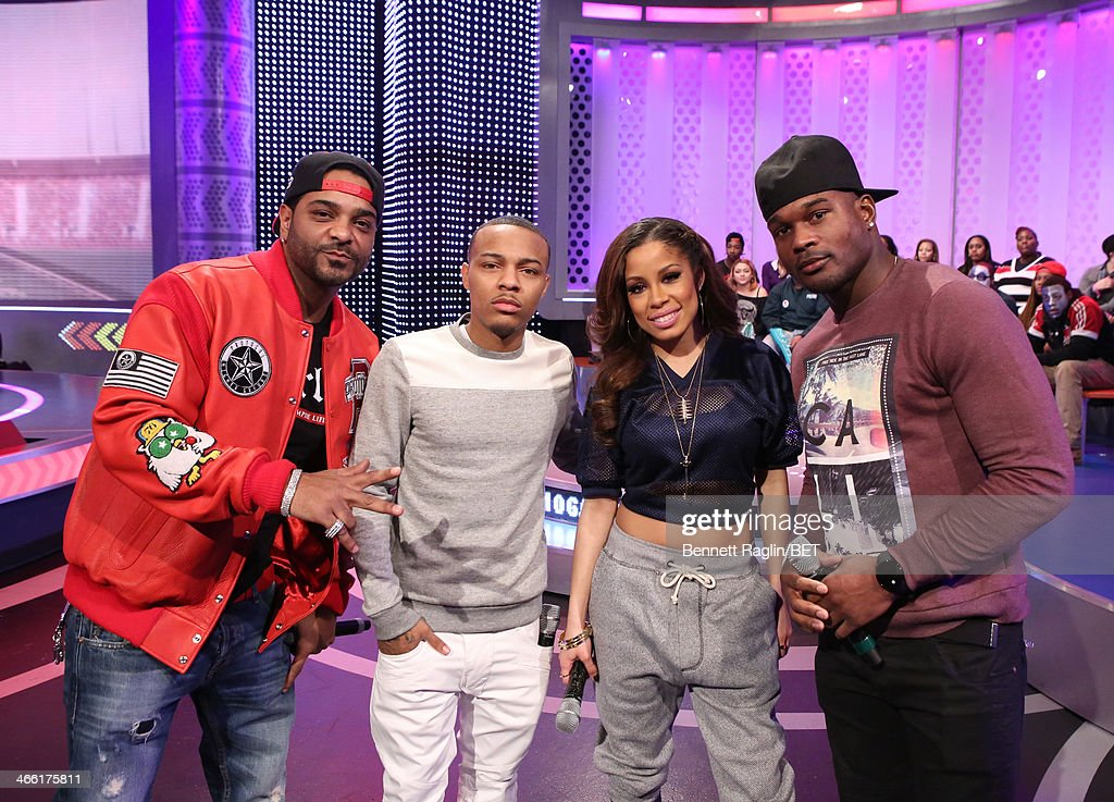Jim Jones, Bow Wow, Keshia Chante, and Jairus Byrd attend 106 & Park at BET studio on January 30, 2014 in New York City.