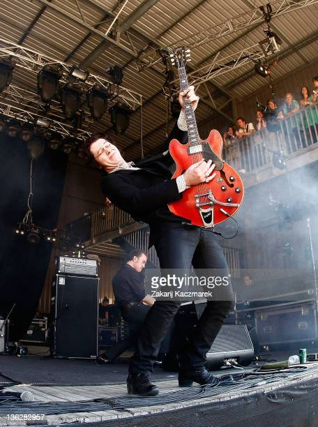 Jim Jones of The Jim Jones Revue performs on stage on day three of the Falls Music Festival on December 31 2011 in Lorne Australia