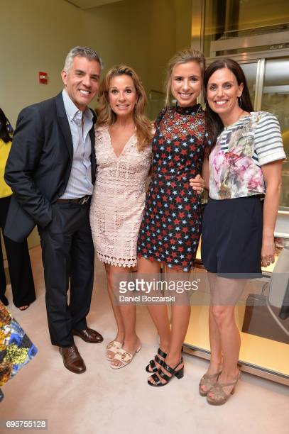 Jim Karas guest Eve Roebke and Andrea Garber attend Prada Chicago x University Of Chicago Cancer Research Foundation Event at Prada Chicago on June...