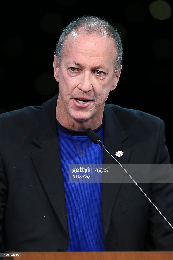 Jim Kelly winner of the Tom Brookshier Spirit Award attends the 78th Annual Maxwell Football Club Awards Gala Press Conference at the Tropicana Casino March 13, 2015 in Atlantic City, New Jersey.