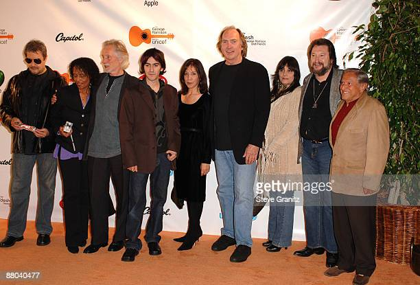 Jim Keltner Claudia Linnear Klaus Voormann Dhani Harrison Olivia Harrison Chuck Findley and musicians from George Harrison's 1971 Concert for...