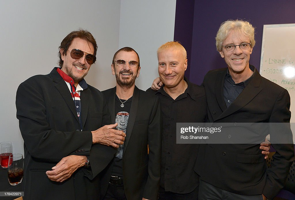 Jim Keltner, Ringo Starr, Gregg Bissonette and Stewart Copeland attend 'Ringo: Peace & Love' at The GRAMMY Museum on June 12, 2013 in Los Angeles, California.