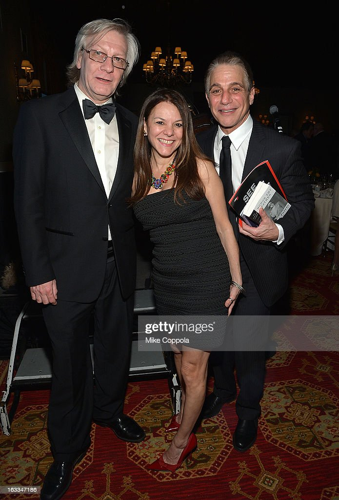 Jim Kerr, Dona Hettinger, and <a gi-track='captionPersonalityLinkClicked' href=/galleries/search?phrase=Tony+Danza&family=editorial&specificpeople=203133 ng-click='$event.stopPropagation()'>Tony Danza</a> pose for a picture at the Table 4 Writers Foundation 1st Annual Awards Gala on March 7, 2013 in New York City.