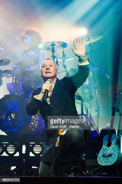 Jim Kerr from Simple Minds performs at Le Grand Rex on May 11 2017 in Paris France