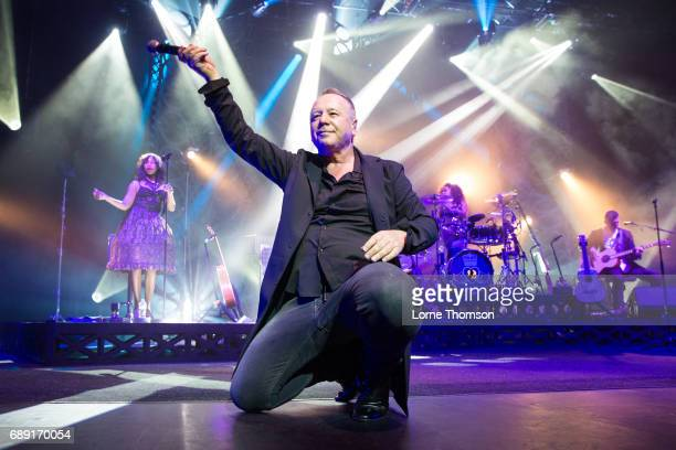 Jim Kerr of Simple Minds performs at London Palladium on May 27 2017 in London United Kingdom