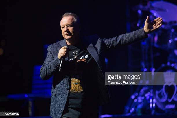 Jim Kerr of Simple Minds performs at Teatro degli Arcimboldi on April 27 2017 in Milan Italy