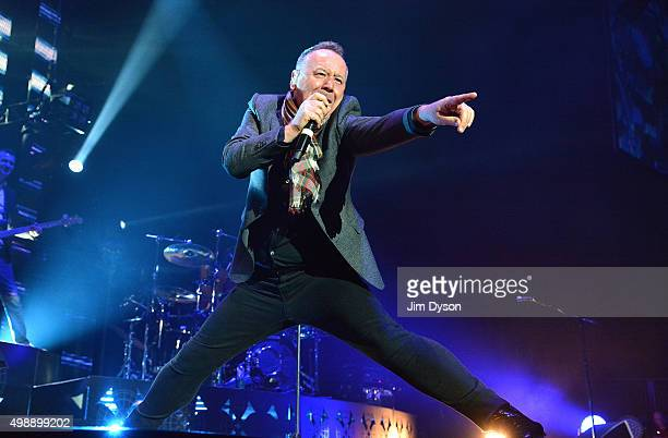 Jim Kerr of Simple Minds performs live on stage at The O2 Arena on November 26 2015 in London England