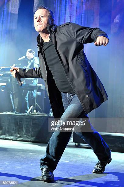 Jim Kerr of Simple Minds performs on stage as part of iTunes Live 2009 at The Roundhouse on July 16 2009 in London England