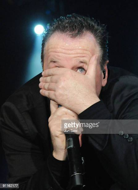 Jim Kerr of Simple Minds performs on stage on the second day of the three day F1 Rocks Singapore concert at Fort Canning Park on September 25 2009 in...