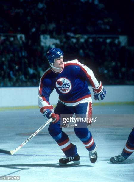 Jim Kyte of the Winnipeg Jets skates on the ice during an NHL game in December 1985