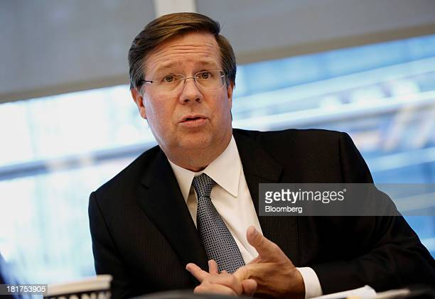 Jim Lentz president and chief operating officer of Toyota Motor Corp's US sales unit speaks during an interview in New York US on Tuesday Sept 24...