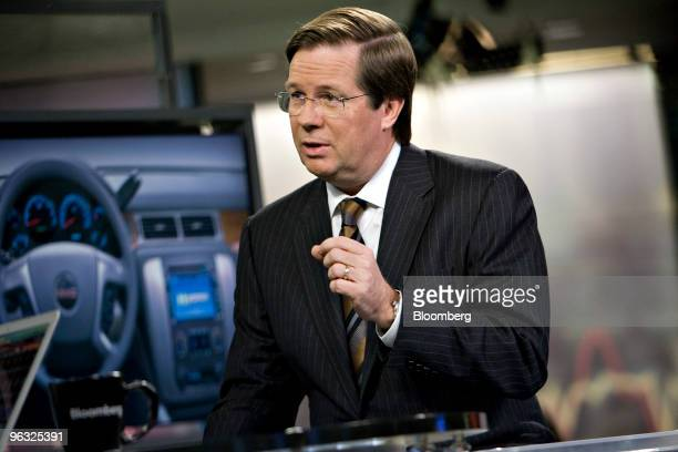 Jim Lentz president of US sales for Toyota Motor Sales USA Inc speaks during a television interview in New York US on Monday Feb 1 2010 Lentz said...