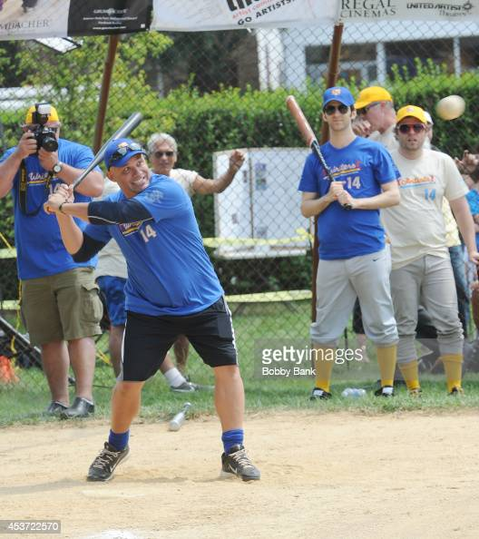 Jim Leyritz attends the 2014 East Hampton Artists Writers Celebrity Softball Game at Herrick Park on August 16 2014 in East Hampton New York