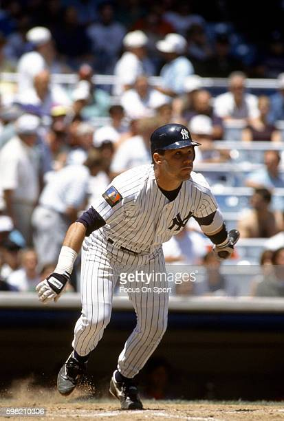 Jim Leyritz of the New York Yankees in bats during an Major League Baseball game circa 1994 at Yankee Stadium in the Bronx borough of New York City...