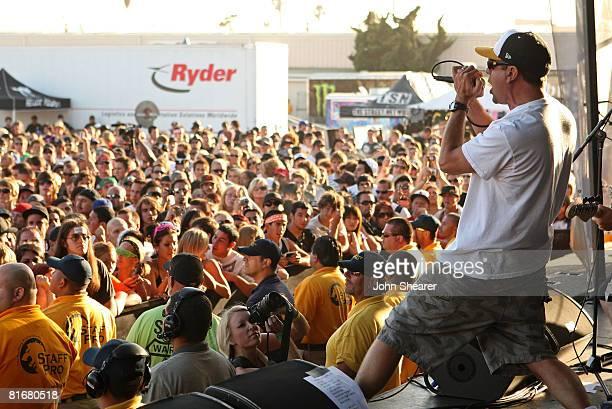Jim Lindberg of Pennywise performs at the Van's Warped Tour at Seaside Park on June 22 2008 in Ventura California