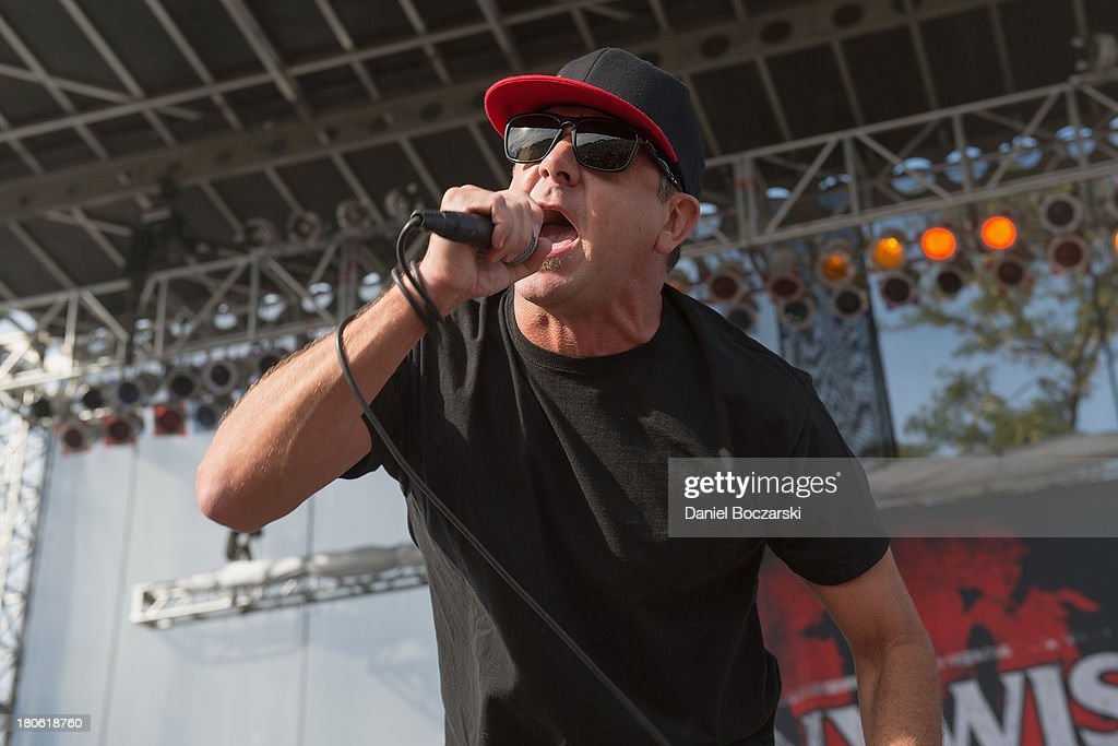 Jim Lindberg of Pennywise performs on stage on Day 2 of Riot Fest and Carnival 2013 at Humboldt Park on September 14, 2013 in Chicago, Illinois.