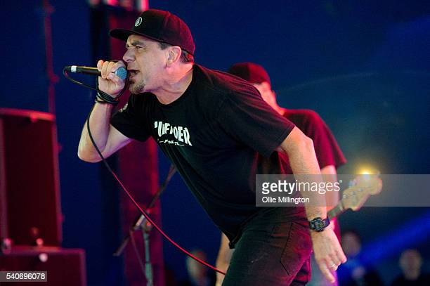 Jim Lindberg of Pennywise performs onstage on Day 2 of Download Festival 2016 at Donnington Park on June 11 2016 in Donnington England