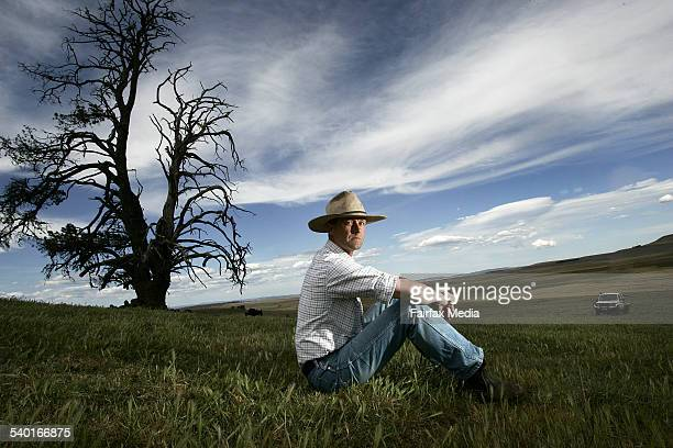 Jim Litchfield property owner of Hazeldean a sheep and livestock property near Cooma NSW 26 October 2006 AFR Picture by ROB HOMER