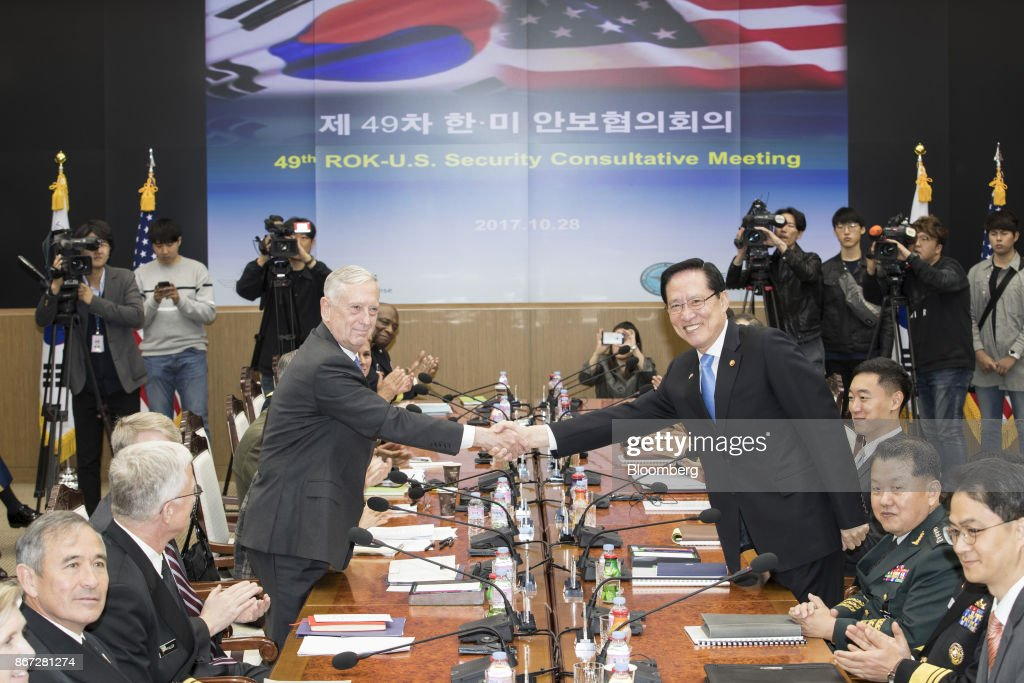 U.S. Secretary of Defense James Mattis And South Korea's Defense Minister Song Young-moo Attend Defense Ministers Meeting