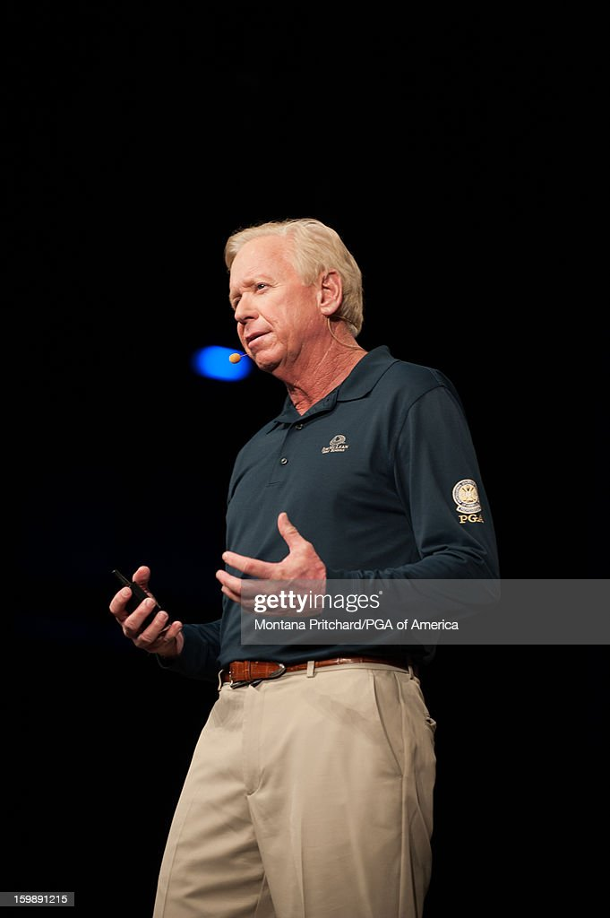 Jim McLean speaks at the 'Developing the Young Player' lecture during the 13th PGA Teaching and Coaching Summit held at the Orange County Convention Center on January 22, 2013 in Orlando, Florida.