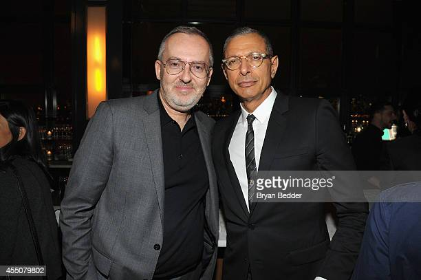 Jim Moore and Jeff Goldblum attend the GQ Fashion Week Party At The Wythe Hotel on September 9 2014 in Brooklyn New York