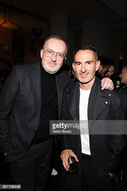 Jim Moore and Neil Barrett attends GQ Celebrates Milan Men's Fashion Week during Milan Men's Fashion Week Fall/Winter 2017/18 on December 14 2016 in...