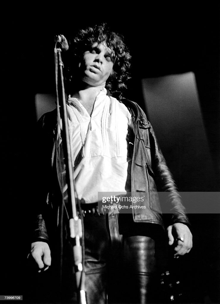 Jim Morrison of the Doors performs during their debut at the Village Theatre (later
