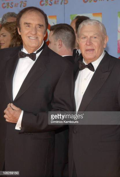 Jim Nabors and Andy Griffith during CBS at 75 at Hammerstein Ballroom in New York City New York United States