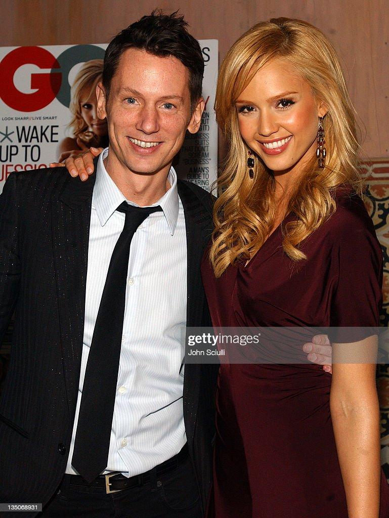 Jim Nelson editor in chief of GQ Magazine and Jessica Alba