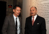 Jim Nelson editorinchief of GQ and Ray Kelly during GQ Magazine Presents Life During Wartime A Soldiers' Portfolio at 209 Elizabeth Street in New...