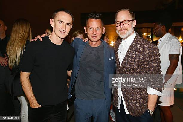 Jim Nelson Neil Barrett and Bruce Pask attend the 'GQ Celebrates The Spring 2015 Milan Collection' on June 21 2014 in Milan Italy