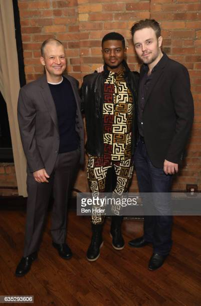 Jim Norton Actor Jamal MalloryMcCree and Director Matthew Newton attend the Special Screening Of FilmRise's 'From Nowhere' at Tribeca Screening Room...