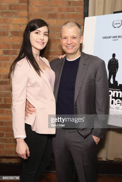 Jim Norton and guest attend the Special Screening Of FilmRise's 'From Nowhere' at Tribeca Screening Room on February 13 2017 in New York City