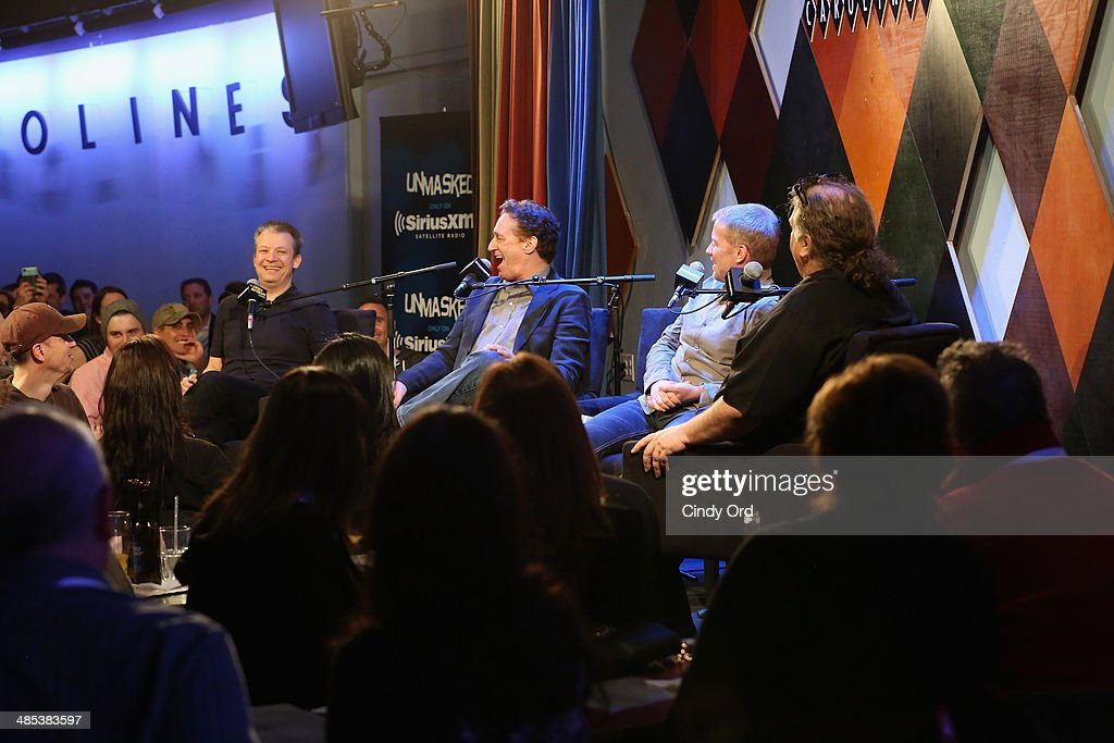 Jim Norton, <a gi-track='captionPersonalityLinkClicked' href=/galleries/search?phrase=Anthony+Cumia&family=editorial&specificpeople=6345627 ng-click='$event.stopPropagation()'>Anthony Cumia</a>, Greg 'Opie' Hughes and Ron Bennington speak at SiriusXM's O&A20: Unmasked With Opie & Anthony Special Celebrates 20 Years Of Opie & Anthony at Carolines On Broadway on April 17, 2014 in New York City.