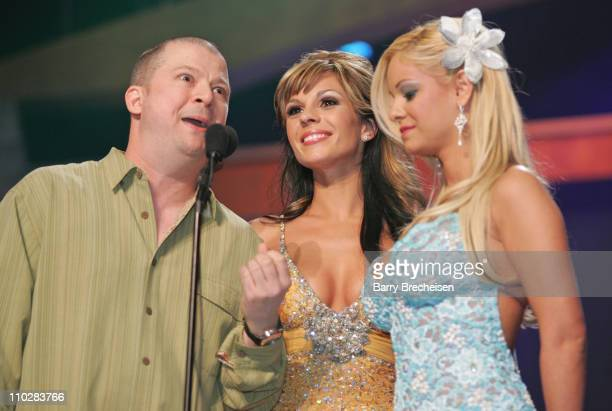 Jim Norton Carmen Luvana and Kristen Price during 23rd Annual AVN Awards Show at Venetian Hotel in Las Vegas Nevada United States