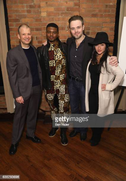 Jim Norton Director Matthew Newton Actor Jamal MalloryMcCree and Raquel Castro attend the Special Screening Of FilmRise's 'From Nowhere' at Tribeca...