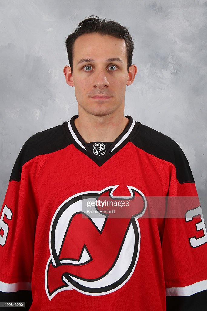 Jim O'Brien of the New Jersey Devils poses for his official headshot of the 201516 season at the Prudential Center on September 17 2015 in Newark New...