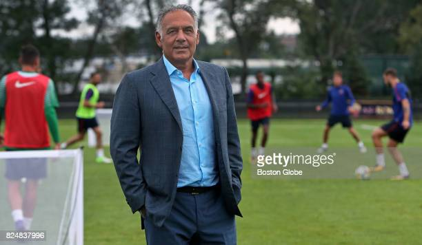 Jim Pallotta owner of AS Roma soccer team poses for a portrait during a team practice at the Ohiri Field in Cambridge Mass July 27 2017