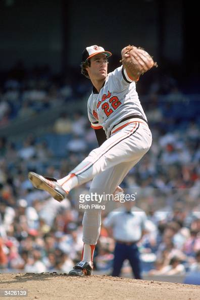 Jim Palmer of the Baltimore Orioles on the mound during a 1978 season game