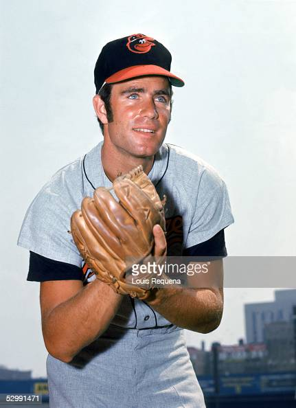 Jim Palmer of the Baltimore Orioles poses before an MLB game at Yankee Stadium in the Bronx New York