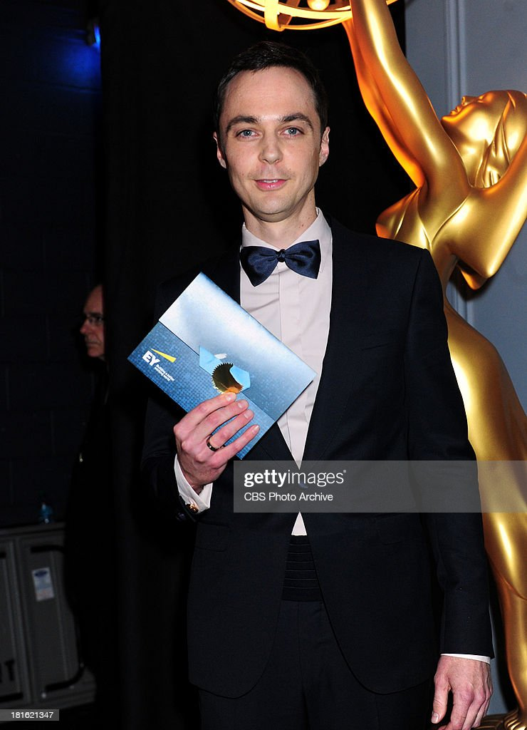 <a gi-track='captionPersonalityLinkClicked' href=/galleries/search?phrase=Jim+Parsons&family=editorial&specificpeople=2480791 ng-click='$event.stopPropagation()'>Jim Parsons</a> at the 65th Primetime Emmy Awards,  which will be broadcast live across the country 8:00-11:00 PM ET/ 5:00-8:00 PM PT from NOKIA Theater L.A. LIVE in Los Angeles, Calif., on Sunday, Sept. 22 on the CBS Television Network.