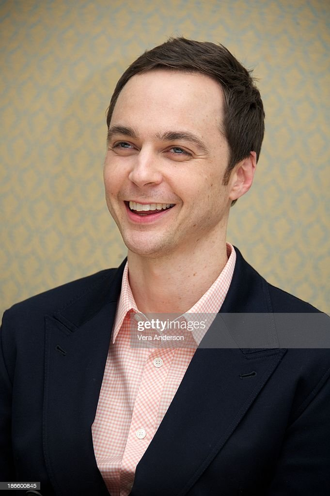 Jim Parsons at 'The Big Bang Theory' Press Conference at the Four Seasons Hotel on October 30, 2013 in Beverly Hills.
