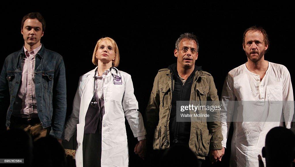 Jim Parsons Ellen Barkin Joe Mantello John Benjamin Hickey attending the Broadway Opening Night Performance for 'The Normal Heart' in New York City