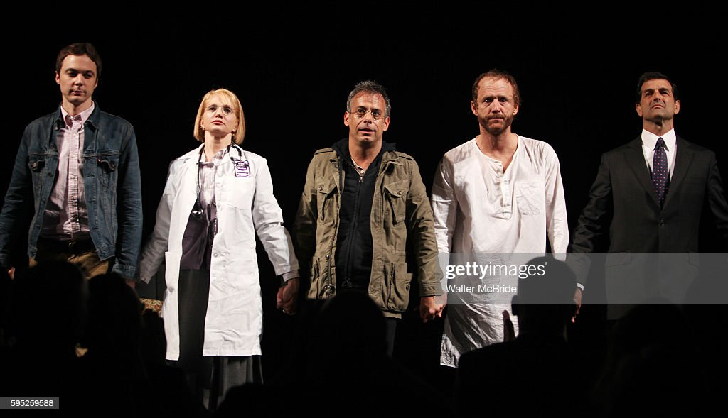 Jim Parsons Ellen Barkin Joe Mantello John Benjamin Hickey Mark Harelik attending the Broadway Opening Night Performance for 'The Normal Heart' in...