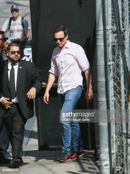 Jim Parsons is seen at 'Jimmy Kimmel Live' on August 09 2017 in Los Angeles California