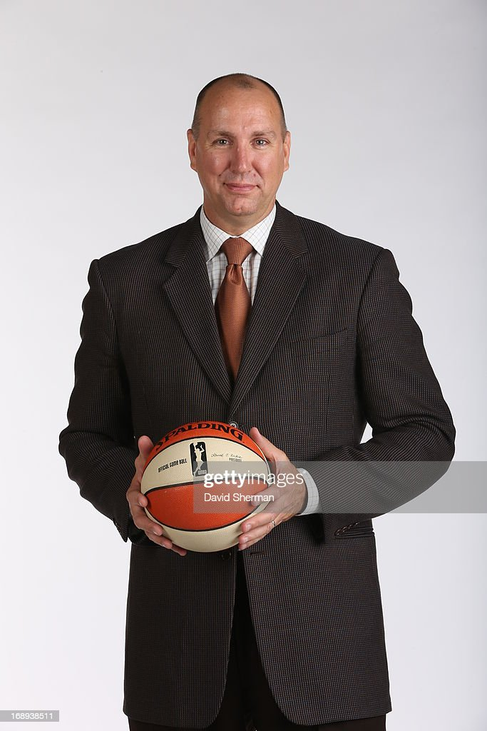 Jim Petersen assistant coach of the Minnesota Lynx poses for portraits during 2013 Media Day on May 16, 2013 at the Minnesota Timberwolves and Lynx LifeTime Fitness Training Center at Target Center in Minneapolis, Minnesota.