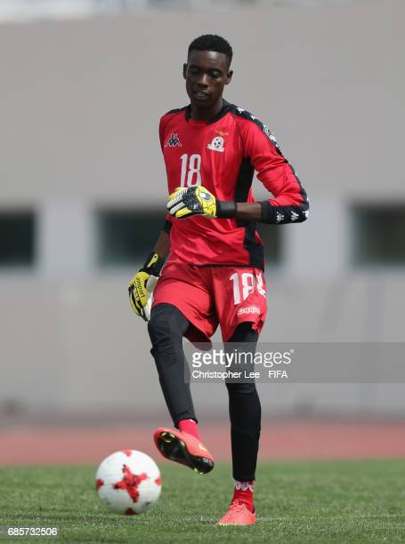 Jim Phiri of Zambia in action during their training Session at Kang Chang Hak Stadium on May 20 2017 in Jeju South Korea