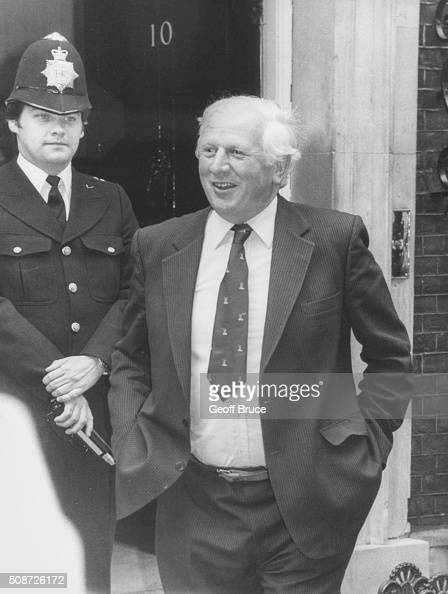 Jim Prior the Minister for Employment pictured outside 10 Downing Street following a Cabinet meeting London September 14th 1981