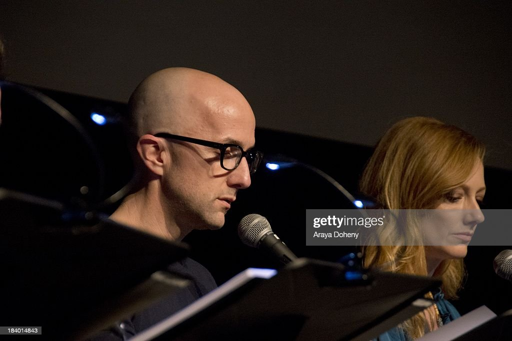 Jim Rash and Judy Greer at the Film Independent at LACMA - 'Boogie Nights' live read directed by Jason Reitman at Bing Theatre At LACMA on October 10, 2013 in Los Angeles, California.